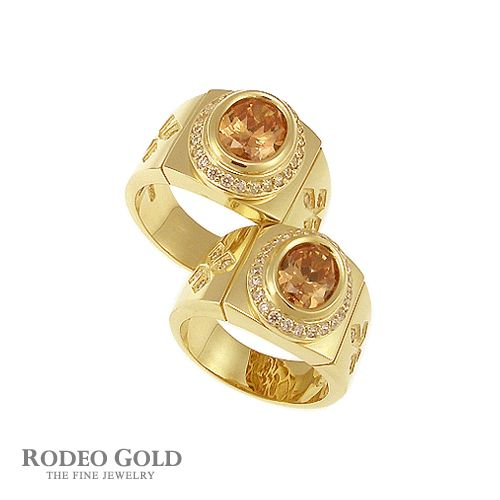 Gold rings with gemstones TCR68290