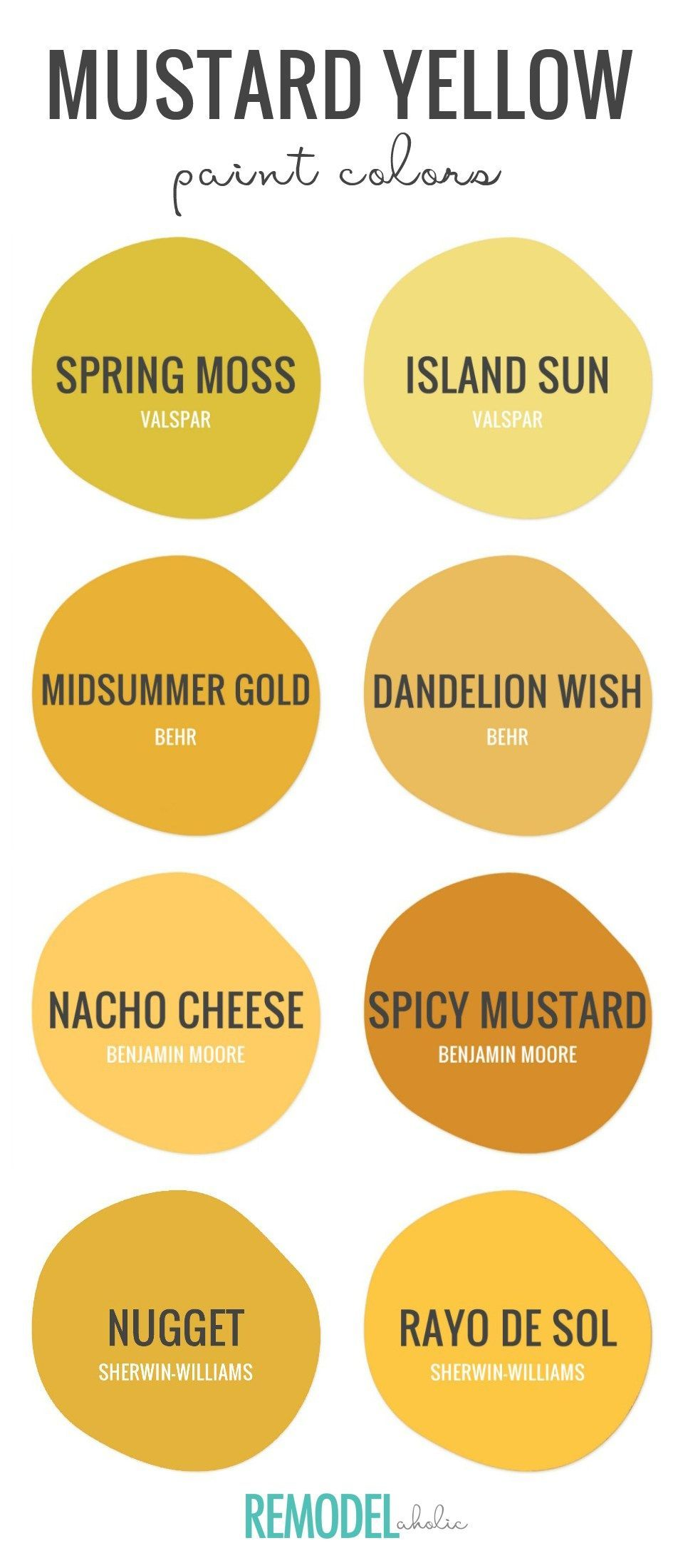 Try This Trending On For Size With The Best Mustard Yellow Paint