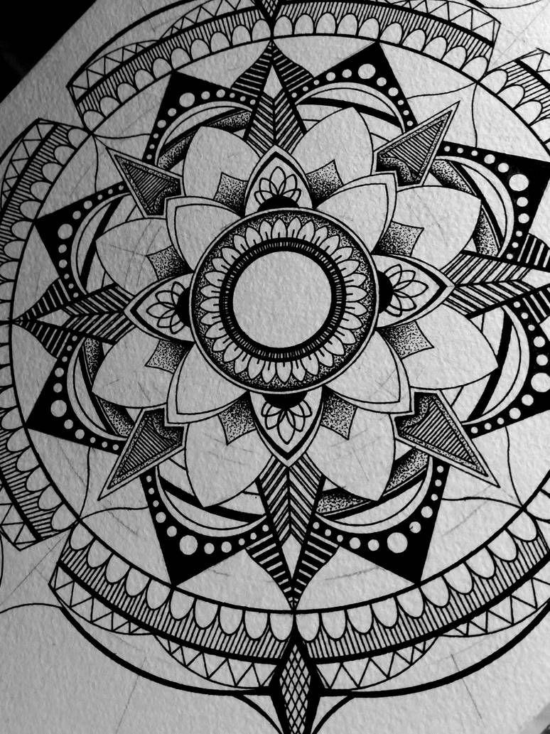 Black mandala by drawingsbylenna23 Mandela art, Mandala