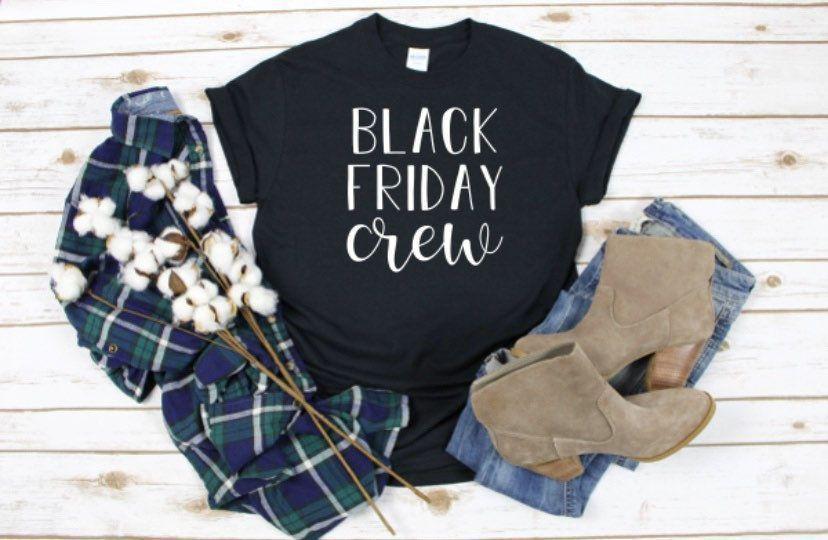 Black Friday Crew / Black Friday Shirt / Schwarzer Freitag Humor / Frauen Black Friday Shirt ... #blackfridayfunny