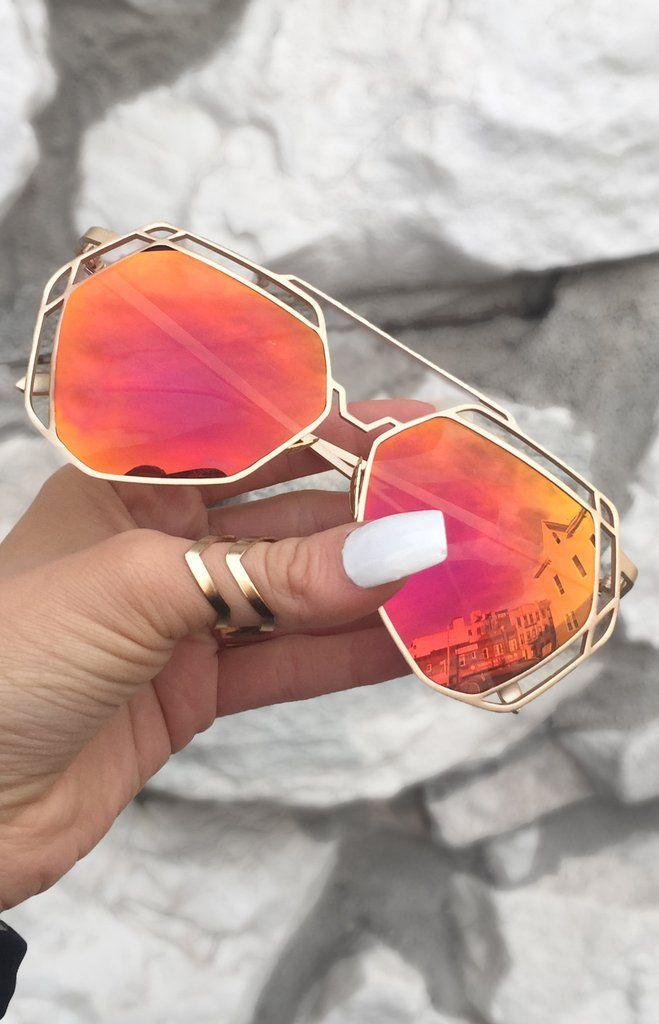 7eeb306d2b18 Arrest Me Sunnies - Sunset (Red - Orange Lens)