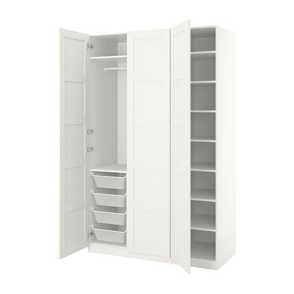 Pax Wardrobe White Bergsbo White 150x60x236 Cm Armoire
