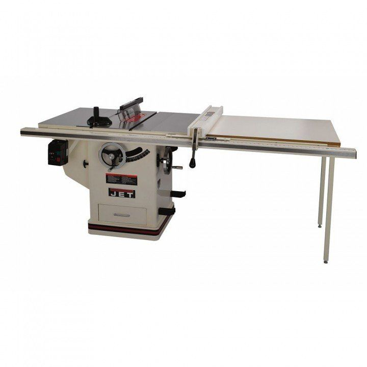 Jet Deluxe Xacta 5hp 10 Table Saw W 50 Fence Cabinet Table Saw Best Table Saw Table Saw