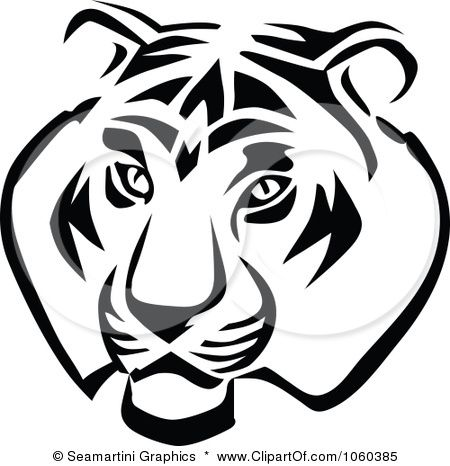 Royalty Free Vector Clip Art Illustration Of A Tiger Head Logo
