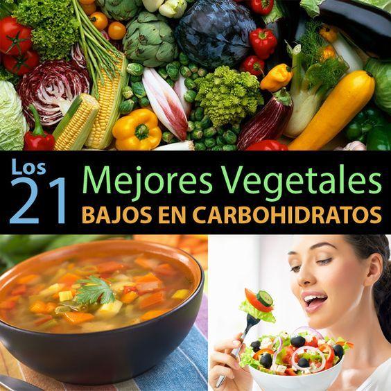 Las Verduras Son Alimentos Bajos En Calorías Y Altos En Fibra Vitaminas Mineral Alimentos Con Carbohidratos Bajo En Carbohidratos Dieta Baja En Carbohidratos