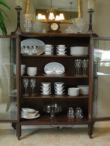 Arranging My White Fine China Decor Dining Room Shelves China