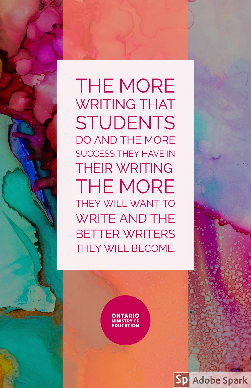 quote on improving student writing. | quotes for literacy