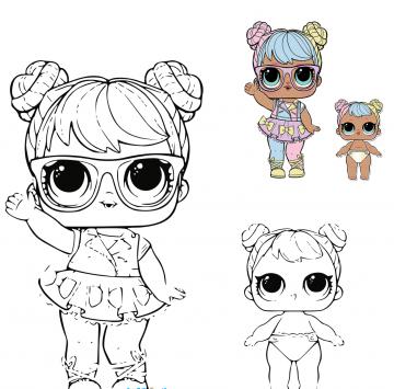 Bebe Bonita Disegno Da Colorare Lol Surprise 4 Cartoni Animati