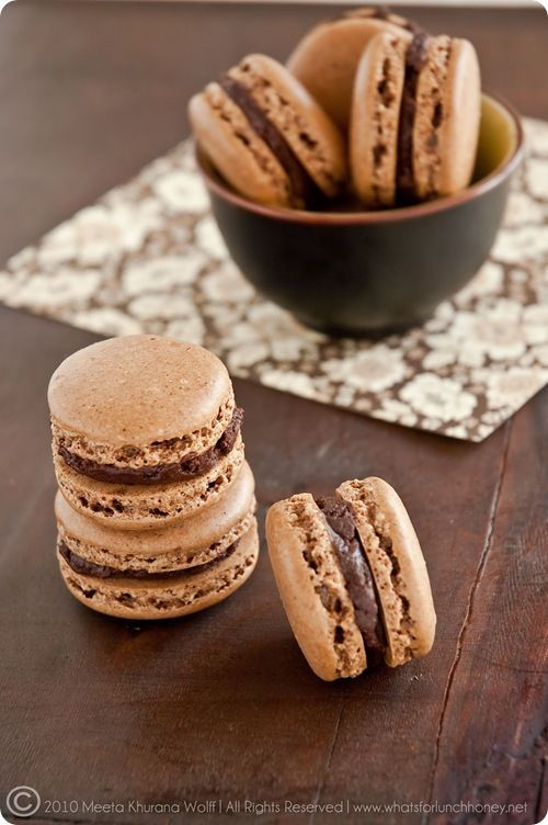 Rooibos Chocolate Chai and Sweet Spicy Chocolate Cinnamon Macarons