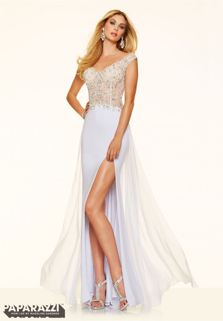 Prom dresses by paparazzi prom crystal beaded embroidery on jersey