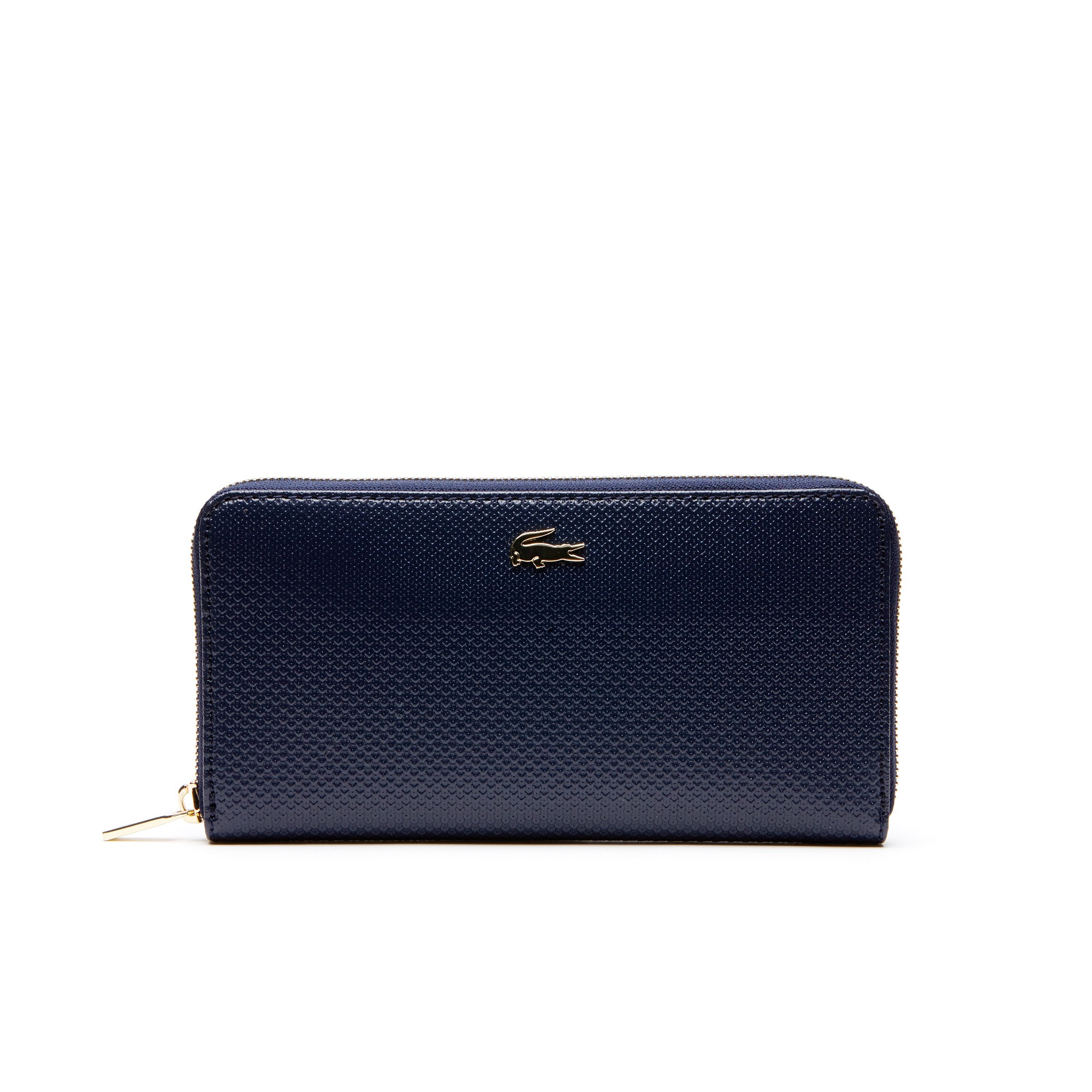 643cbf3d0035 LACOSTE Women's Chantaco Piqué Leather Zip Wallet - peacoat. #lacoste #
