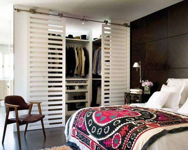 kleiderschrank offene regale schiebetueren weiss schlafzimmer wohnung basteln pinterest. Black Bedroom Furniture Sets. Home Design Ideas