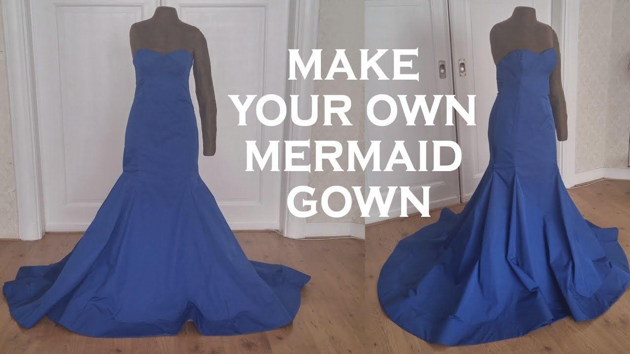 Diy Mermaid Gown Mermaid Dress Pattern Diy Prom Dress Diy Gown [ 720 x 1280 Pixel ]