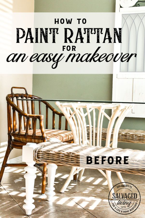 Rattan Furniture Makeover - Salvaged Living