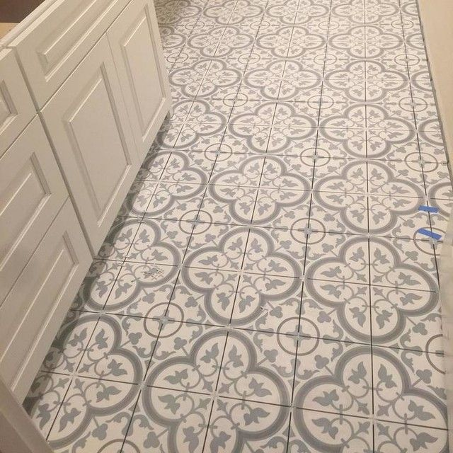 Cheverny Blanc Encaustic Cement Wall And Floor Tile 8 X 8 In The