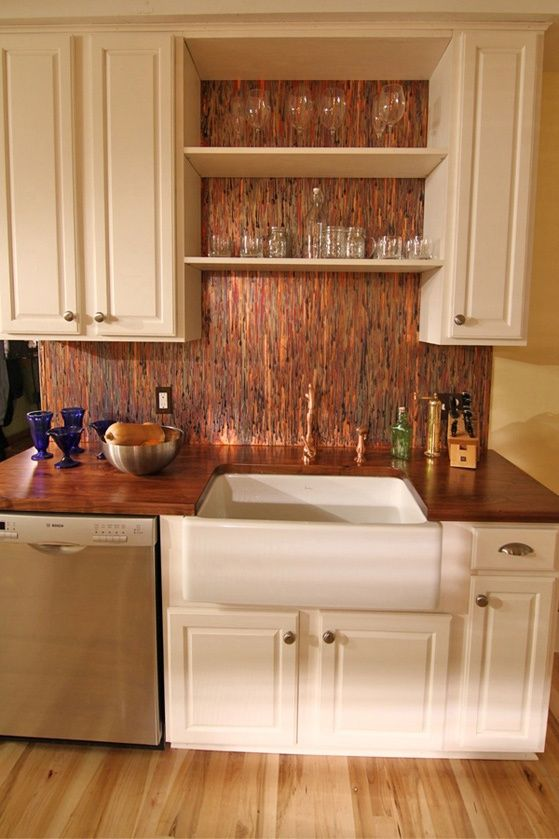 Stunning Copper Backsplash For Modern Kitchens Kitchen