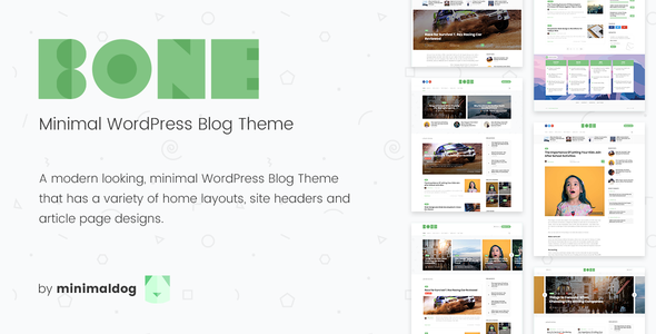 Bone - Minimal & Clean Premium WordPress Blog Theme | Free Premium ...
