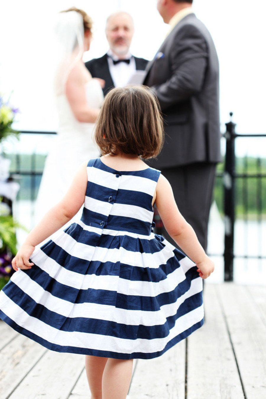 This Flower Dress Is Adorable For A Beach Or Nautical Theme Wedding