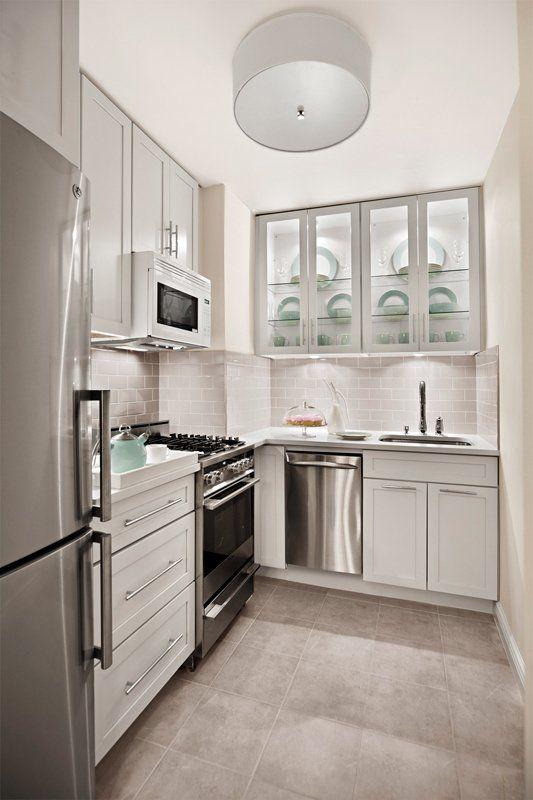 Before After Elegant Gramercy Park Studio Kitchen Small