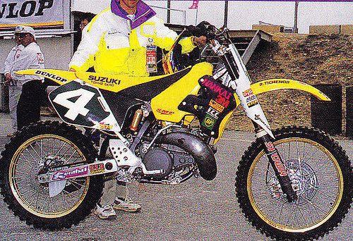 Ronnie Tichenor S Japanese Works Rm250 Yamaha Motocross Suzuki Dirt Bikes Suzuki Motocross