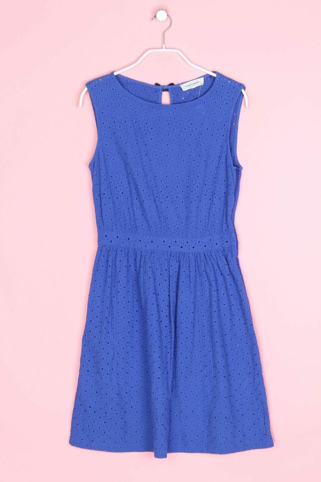 NAF NAF Muster-Kleid mit Schleife D 27 Blau in 27  Kleid mit