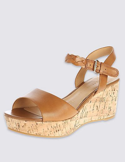 Ankle strap wedges, Wedge sandals