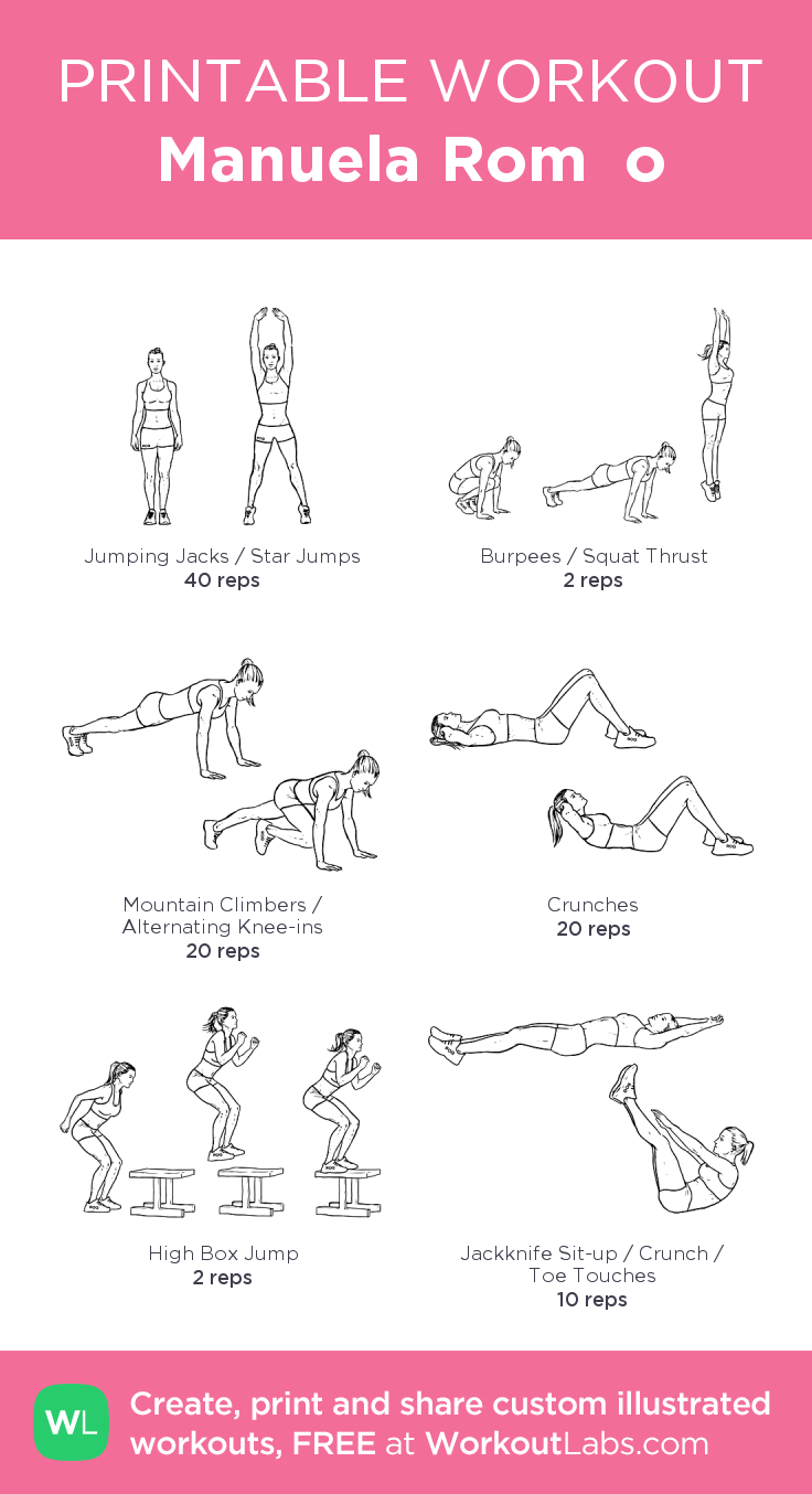 Manuela Romão my visual workout created at WorkoutLabs