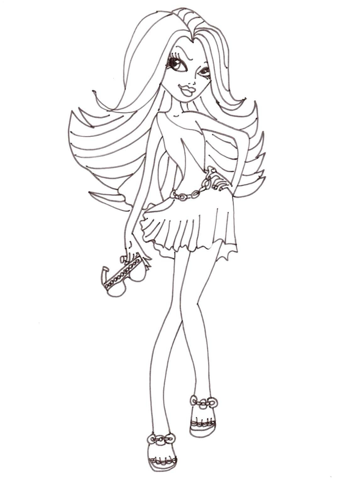 Ausmalbilder Monster High Spectra : Monster High Spectra Vondergeist Takes Genera Coloring Pages