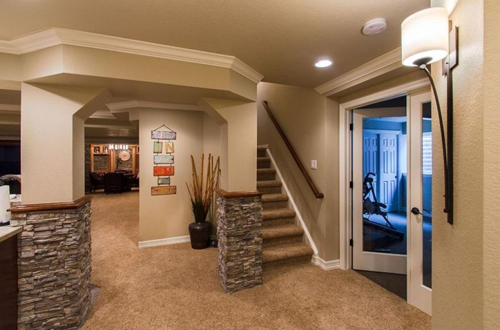 Decorating Ideas For Concrete Walls In Basement Amazing Basement