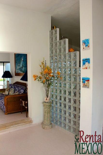 glass block room divider Google Search Glass wall Pinterest