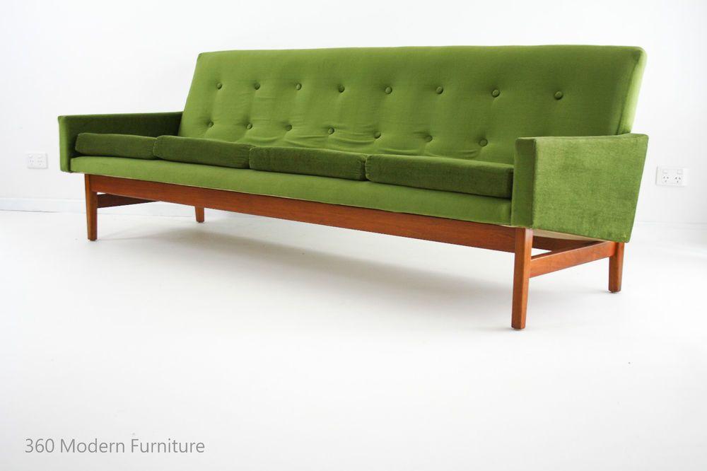 mid century fler lounge sofa lowline 4 seater retro vintage flerline danish era 360