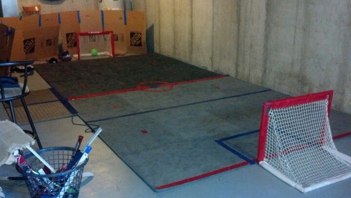Knee Hockey Rug Hockey Room Basement Playroom Playroom