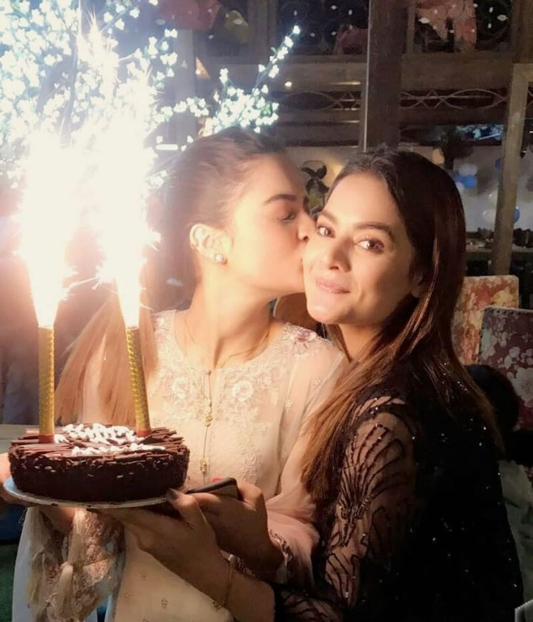 Beautiful Twins Aiman and Minal Khan Celebrating their
