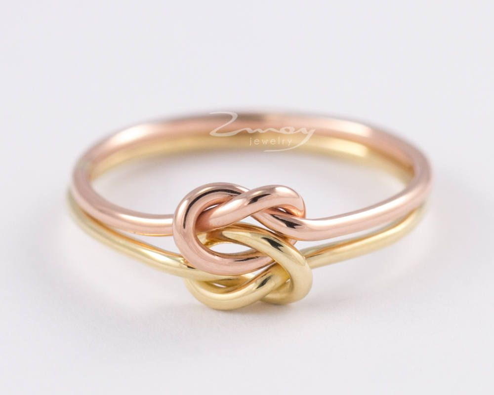 Double Knot Ring Love Knot Ringinfinity Knot Ringgold Wire Ring