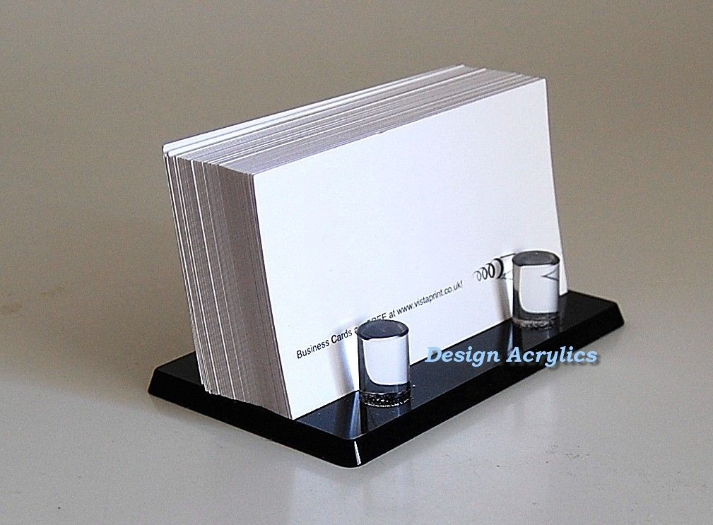 Shocking Perspex Business Card Holder Clearlic Wall Mounted