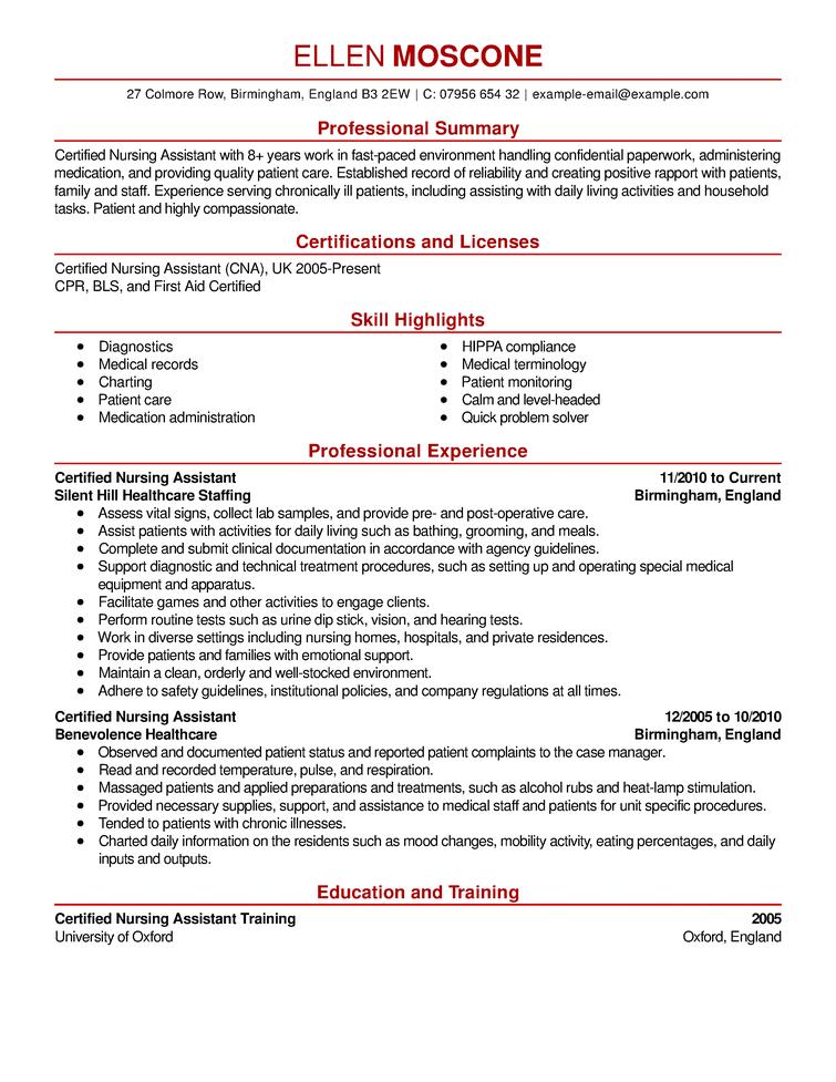 Image result for skills and certifications resume examples
