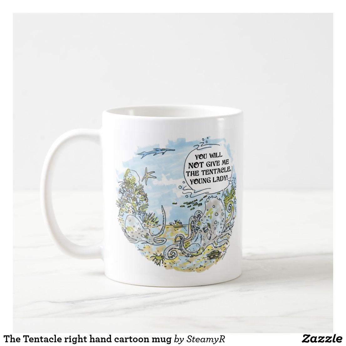 The Tentacle right hand cartoon mug | Steamy Kitchen | Pinterest