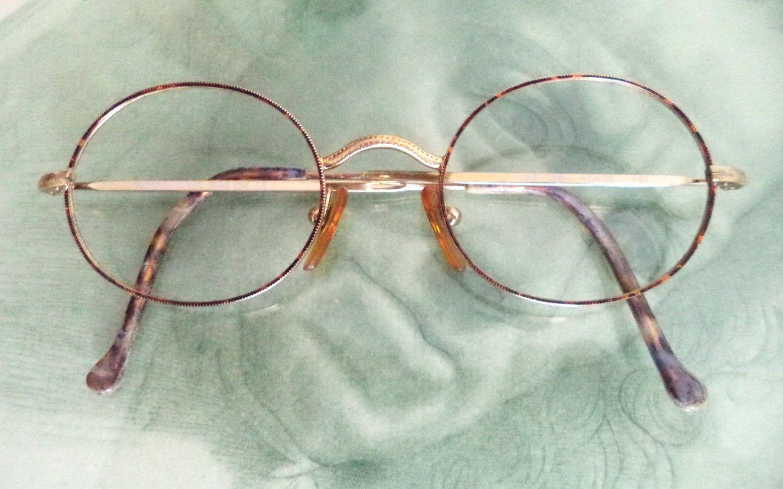 8d454de26995 Giorgio Armani Eyeglasses GF Saddle Bridge Oval Tortoise Havana Retro  Cambridge 47-20 gold filled Rim Unisex RX glasses GA Italy women men by  MushkaVintage3 ...