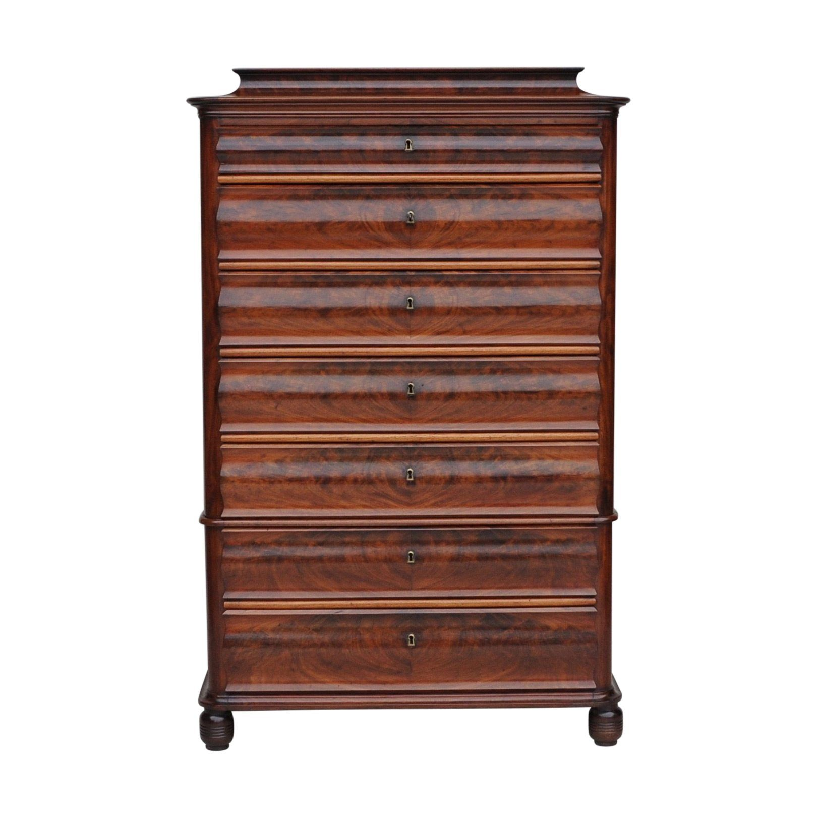 mid century tall chest of drawers