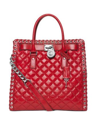 MICHAEL MICHAEL KORS Hippie Grommet Hamilton Large Quilted North South Tote  Bag d09ff37f1b