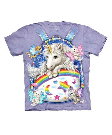Take a look at this Purple Backpack Unicorn Tee - Toddler & Kids by The Mountain on #zulily today!