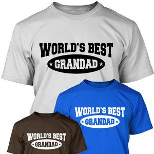 MENS /'THIS IS WHAT THE WORLD/'S GREATEST GRANDAD LOOKS LIKE/' T-SHIRT FATHERS DAY
