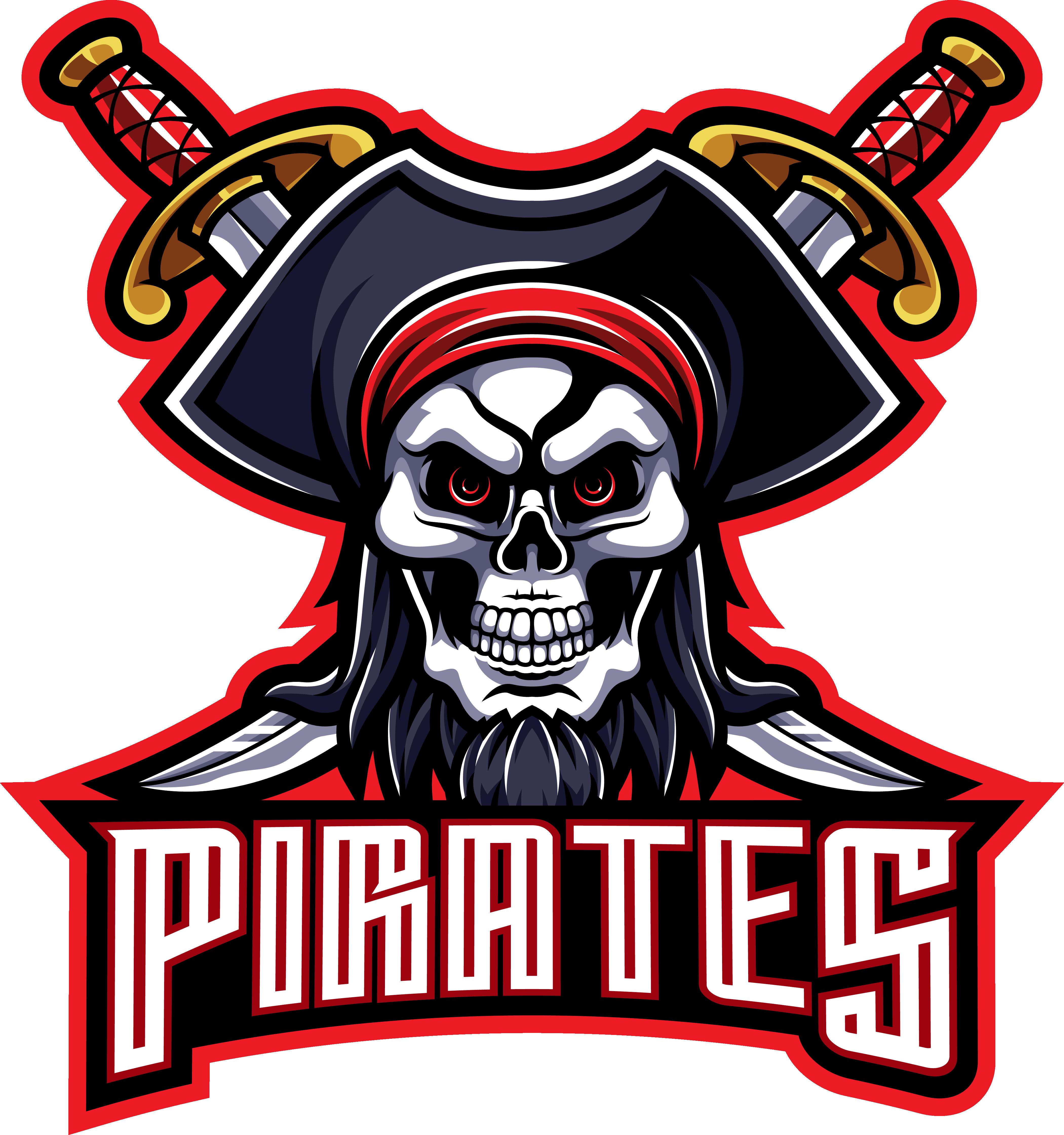 Pirates Mascot Gaming Logo Design By Visink Thehungryjpeg Com Gaming Ad Mascot Pirates Logo Adver Logo Design Mascot Social Media Marketing