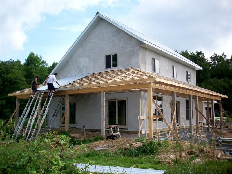 house plans with wrap around porches | porch under construction