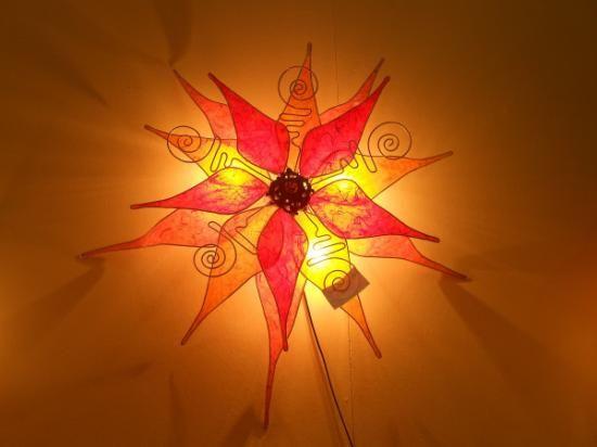 Lampadario Carta Di Riso : Carta di riso vetrificata e fi lampadario a sole fil di fero cromato