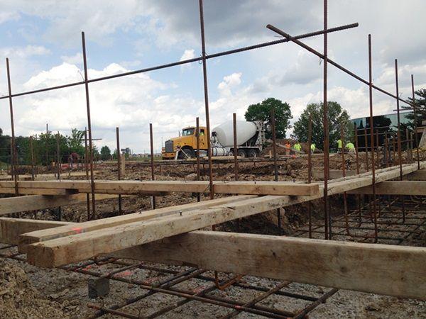 Woohoo!  We've got rebar and concrete!