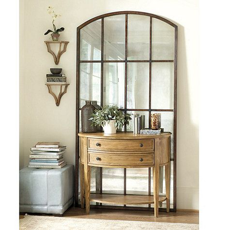Amiel Arch Aged Brown Antiqued Mirror Accessories Home