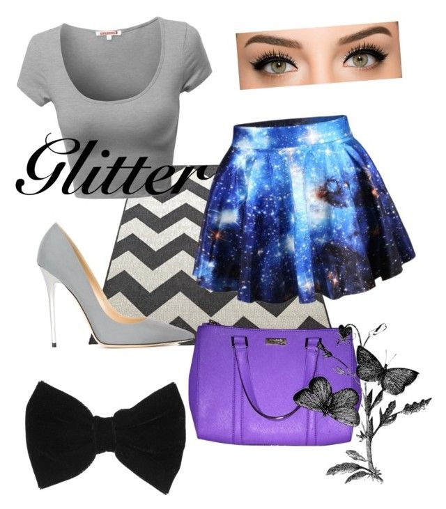 """Untitled #308"" by jollyranchersforeverhashtagblue ❤ liked on Polyvore featuring Chicnova Fashion, Jimmy Choo, Kate Spade and claire's"