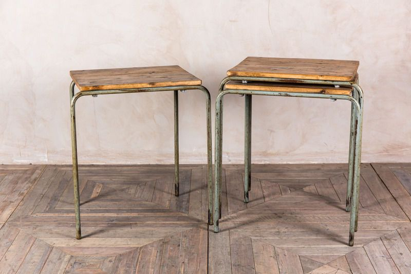 Vintage Stacking Table Stackable Bar Restaurant Furniture Retro Cafe Table Ebay