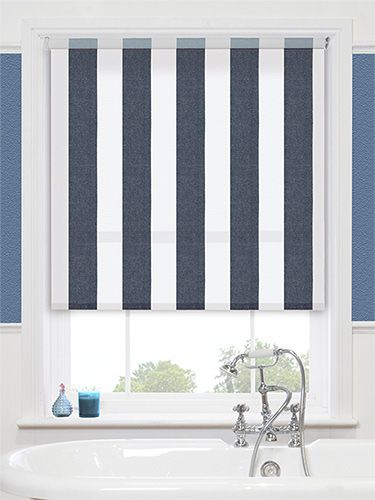 Maritime Coastal Blue Roller Blind From Blinds 2go Blue